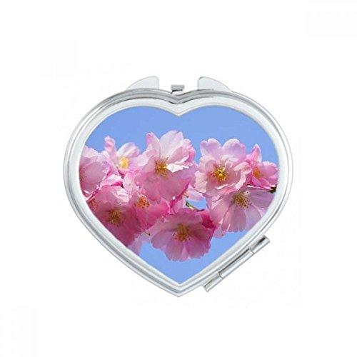 DIYthinker Marron, Blanc, Rose Belle Fleurs de Coeur de Maquillage Compact Miroir de Poche Portable Mignon Petit Cadeau Miroirs Main Multicolor