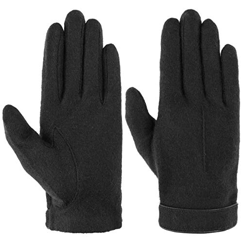 Roeckl Strickhandschuh mit Lederpaspel Strickhandschuhe Wollhandschuhe (One Size - schwarz)