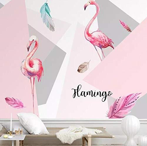 3D behang moderne minimalistische Flamingo tv achtergrond behang muurschildering 3D foto muur fabrikanten 430 * 300
