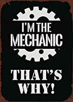 私はメカニックです11-6 金属板ブリキ看板警告サイン注意サイン表示パネル情報サイン金属安全サイン