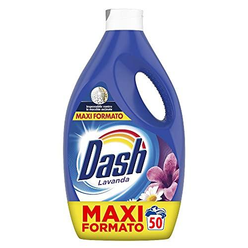 Dash Detersivo Lavatrice Liquido, 50 Lavaggi, Profumo di Lavanda, Maxi Formato, Pulizia Profonda, per Tutti I Capi