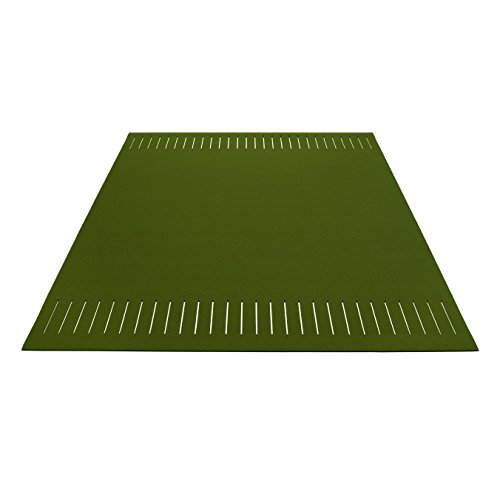 Hey Sign Teppich quer geschlitzt 180×240cm, tannengrün Filz 5mm LxBxH 240x180x0,5cm