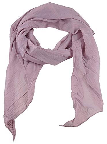 Zwillingsherz Seiden-Tuch für Damen Mädchen Uni Elegantes Accessoire/Baumwolle/Seiden-Schal/Halstuch/Schulter-Tuch oder Umschlagstuch einsetzbar - alt