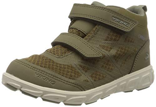 viking Veme Mid GTX, Chaussures de Fitness pour l'extérieur. Garçon Unisex Kinder, Kaki Olive, 34 EU