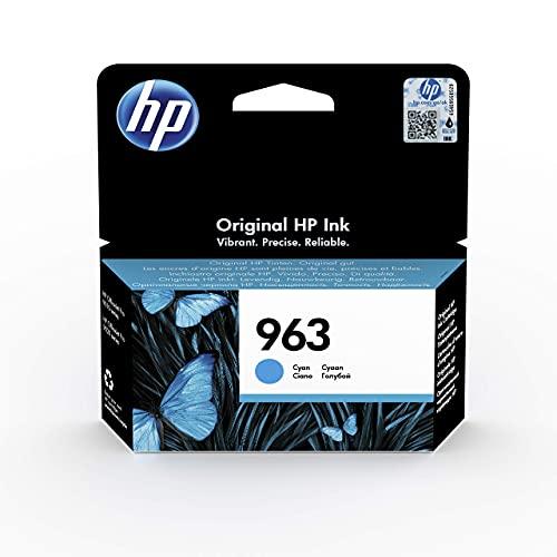 HP 963 3JA23AE, Cian, Cartucho de Tinta Original, compatible con impresoras de inyección de tinta HP OfficeJet Pro Series 9010, 9020