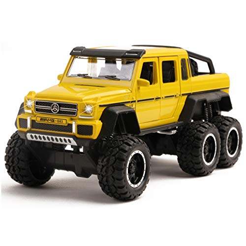 Vokodo Luxury Model Truck 6X6 Off-Road SUV 1:32 Scale G63 with Opening Doors Lights and Sounds Realistic Toy Vehicle Kids Exotic Car Freewheel Great Gift for Children Boys Girls Toddlers