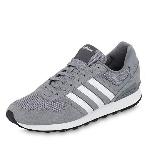 adidas Herren 10K Fitnessschuhe, Grau (Gris/Ftwbla/Gricin 000), 45 1/3 EU,45 1/3 EU