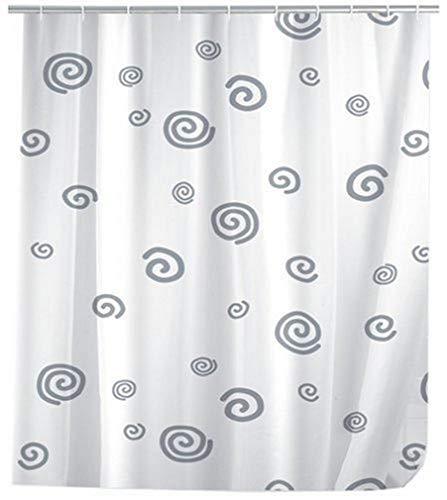WENKO 19154100 Duschvorhang Schnecke - hochwertiges Textilgewebe, 120 x 200 cm