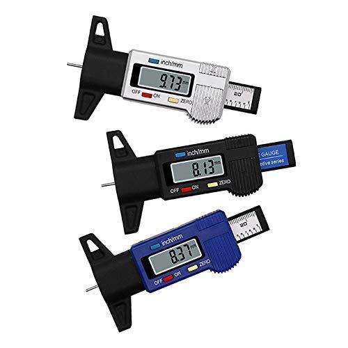 CAIJINJIN Calibrador de 0-25.4mm coche Neumáticos Digital profundidad del neumático probador de calibrador del metro de la medidor herramienta calibradora Pantalla LCD de neumático de Sistema de Monit