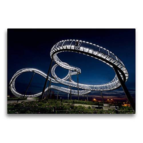 Calvendo Premium Lienzo 75 cm x 50 cm Horizontal, la Serpiente en el Halde - Tiger and Turtle Magic Mountain Imagen en Bastidor, Imagen Lista para la Cultura Industrial de la Ruta Lugares