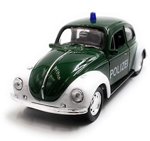 Onlineworld2013 Polizei Käfer Beetle Modellauto Auto grün Maßstab 1:34 (lizensiert)