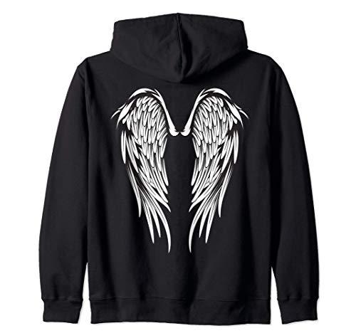 Alas de ángel n. ° 2 en la parte posterior Sudadera con Capucha