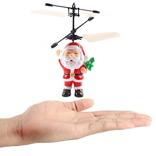 SHOBDW Electric Infrared Sensor Flying Ball Hubschrauber LED Licht Toy (Rot)