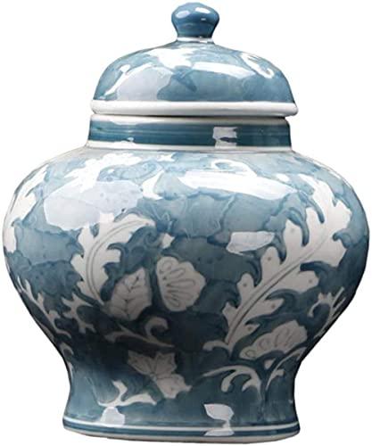 Florero Maceta Flor Porcelana China Flor de cerámica Blanca para Sala de Estar Dormitorio Oficina...