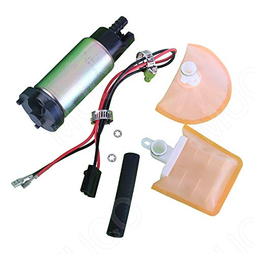 MUCO New Universal Electric Intank Fuel Pump E7154 With Strainer/Filter + Rubber Gasket/Hose + Stainless Steel Clamps + Universal Connector Wiring Harnes Have High Performance