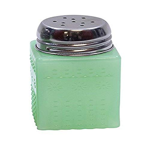Jadeite Glass Collection (TM) Salt & Pepper Shaker with Metal Top, 2-Ounce