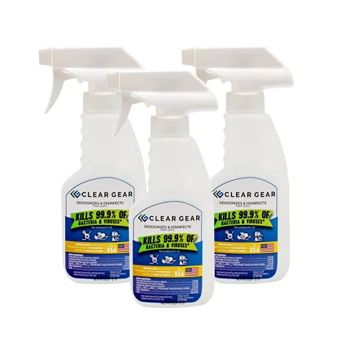 Clear Gear - Disinfecting Spray 3-Pack of 8 Ounce Bottles -...