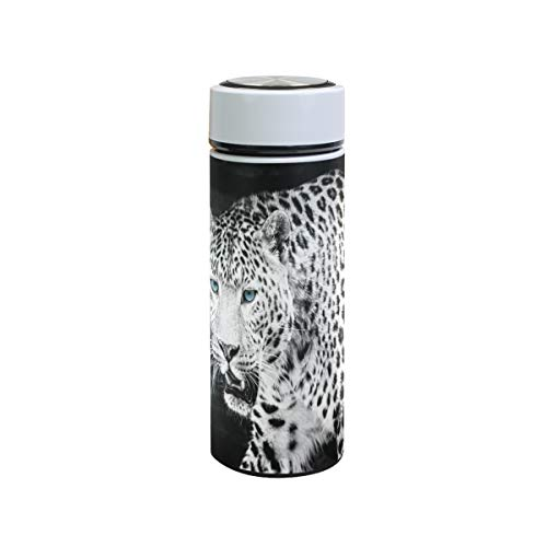 XiangHeFu Sports Leak Proof 12oz waterfles koffie thermosfles houden koud of warm reisbeker Wild Animal Leopard