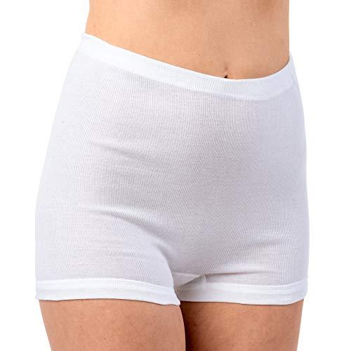 HERMKO 1650 3er Pack Damen Pagen-Schlüpfer aus 100% Bio-Baumwolle, Farbe:weiß, Größe:40 (M)