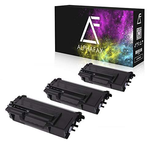 3 Alphafax Toner kompatibel für Brother TN-3480 für Brother HL-L5000D HL-L6300DW HL-L5100DNT HL-L5100DN HL-L5100DNTT DCP-L6600 MFC-L5700 - Schwarz je 8.000 Seiten