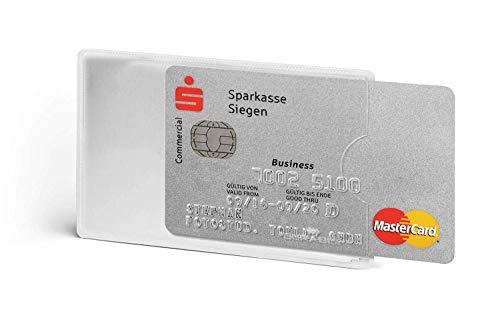 Durable 890319 Kreditkartenhülle (mit Rfid Schutz, Rfid Blocking, Beutel à3 Kartenhüllen) (6 Stück/silber/transparent)