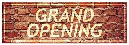 CGSignLab Grand Opening Classic Brown Window Cling 36x24