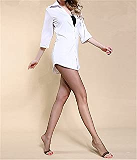 Youji Slim Leggings Transparentes Alambre Penetrado Boca de Pez Calcetines de Punta Abierta Pantalones de Verano Medias Panti