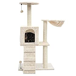 PGFUN Cat Tree and Scratching Post for Older Cats