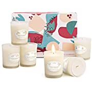 Anjou Scented Candles Gift Set, 6 Pack Natural Soy Wax Aromatherapy, Smoke Free Strong Fragrance Relaxing Long Lasting Candles for Bath Stress Relief Home Decor