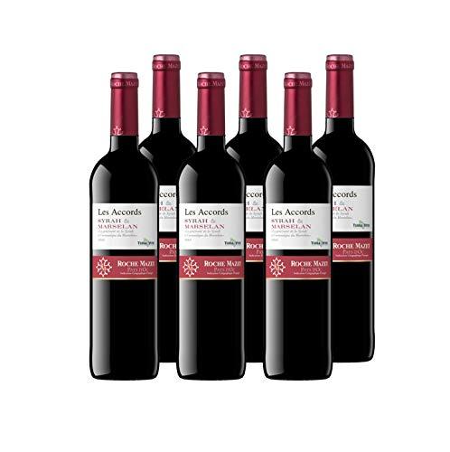 Les Accords de Roche Mazet - Syrah Marselan - IGP Pays d'Oc - Vin Rouge - Terra Vitis - Lot de 6 bouteilles x 75 cl