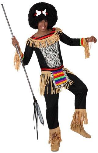 Atosa-15302 Disfraz Zulú, color negro, XL (15302)