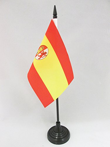 AZ FLAG Bandera de Mesa de la Primera REPÚBLICA DE ESPAÑA 1873-1874 15x10cm - BANDERINA de DESPACHO ESPAÑOLA Antigua 10 x 15 cm