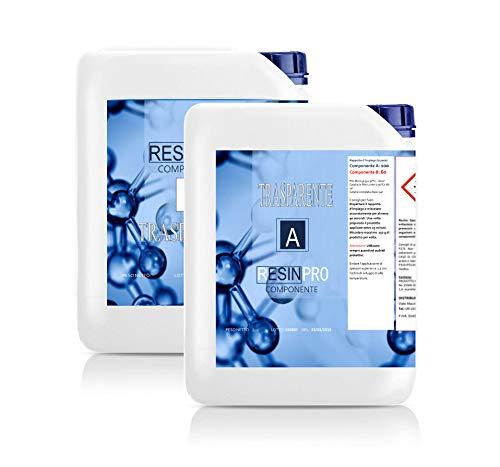 Resin Pro - Transparentes Epoxidharz & Härter (2 SET) (inkl. Handschuhe) - Flüssiges Gießharz glasklar, DIY Harz Guss & Beschichtung, Harzuntersetzer, Laminierharz, Epoxidharz, Glänzend - 16 kg