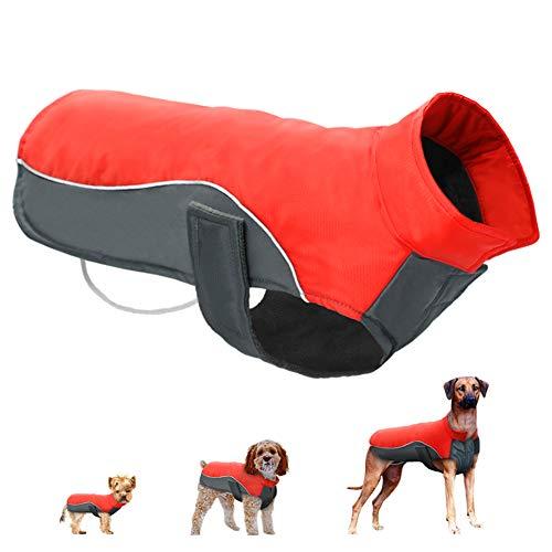 Mallallah winterjas voor honden, buiten, waterdicht, winddicht, van katoen, warme jas, voor huisdieren, medium grootte, maat S, 5XL, 2 kleuren