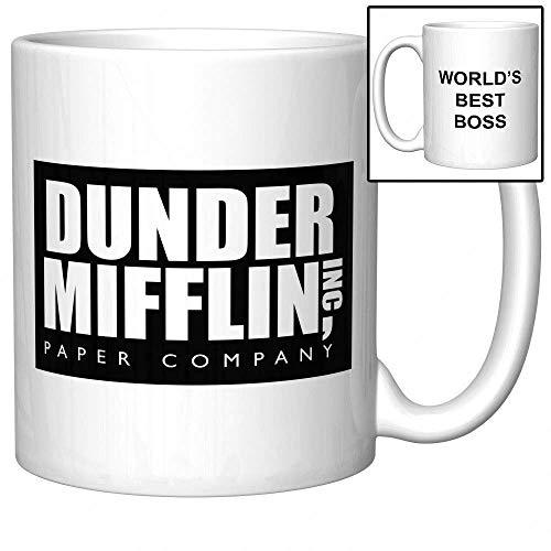 Taza de café, 325 ml, The Office Dunder Mifflin - World's Best Boss - Taza de café de 325 ml