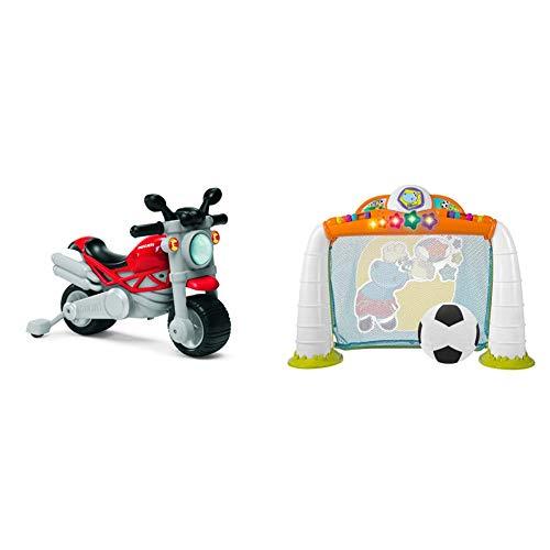 Chicco Moto Giocattolo Per Bambini Ducati Monster, Gioco Cavalcabile A Spinta Con Clacson E Rombo Sonoro & Gioco Porta Calcio Fit&Amp;Fun, 2-5 Anni