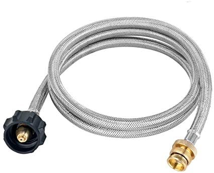 GASLAND Propane Hose 5ft Stainless Steel Braided Gas Line 1lb to 20lb Propane Tank Adapter Line product image