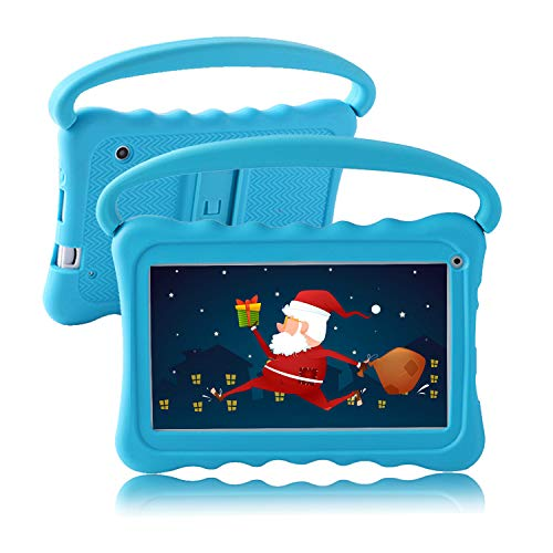 Kids Tablet 7 inch Toddler Tablet for Kids Edition Tablet with WiFi Camera Children's Tablets Android 8.1 Parental Control with Shockproof Case 1GB + 16GB Google Play YouTube Netflix (Blue)