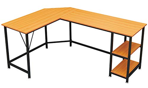 $45.00 66 inch Large Size Corner Computer Desk Clip the Extra 10% off Coupon & use promo code: 605DHZMJ