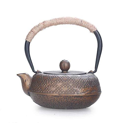 LZZ Heat-resistant teapot Tea Set Teapots,Cast Iron Iron Japanese Cast Iron Pot Cast Iron Pot Handmade Tea Set Angular Gold Southern Iron Iron Bottle 0.5L Present Gifts,Tea