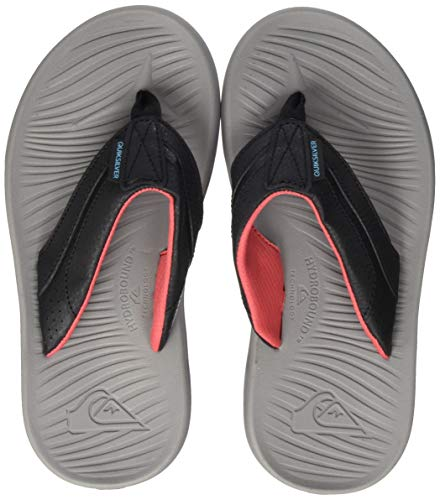 Quiksilver Oasis Youth, Zapatos de Playa y Piscina para Niños, Gris (Black/Grey/Red Xksr), 34 EU