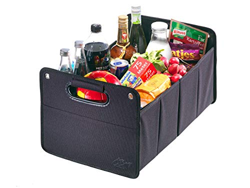 CB Präsentwerbung GmbH CBag schwarz - Kofferraumtasche aus Polyester mit stabilem Boden - Klappbox Kofferraumbox Faltbox Organizer Autobox Tasche Auto Kofferraum Zubehör (schwarz)