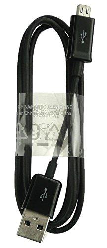 Emartbuy® Schwarz Original Samsung C3300 Libre Micro USB Sync Daten Ladekabel 1M Bulk Pack