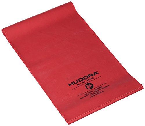 Hudora Fitnessband rot, leicht , latex, 2,0 meter lang - in der Praktischen Box mit Übungsheft
