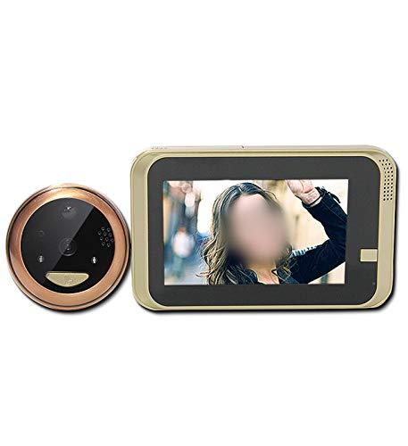 XXHDEE Sistema de intercomunicación de la Puerta de la Puerta de la Puerta del Video, Sistema de Entrada de Puerta HD, botón táctil, visión Nocturna, Soporte automáticamente instantánea/grabación