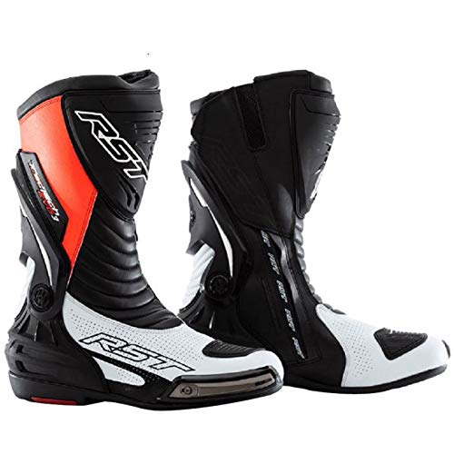 RST Botas deportivas para motocicleta de carreras de adulto Evo 2101, homologadas por la CE, diferentes colores, Fluo Red, 7/41