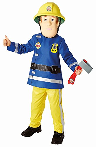 Rubie's Disfraz infantil de Sam el bombero con mscara, talla M (5-6 aos)