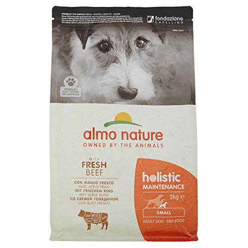 holistic dog adult small mangime secco gusto manzo, kg.2