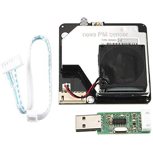 PM2,5 Haute précision Détection qualité de l'air poussière de Sortie numérique du Module de détection SDS011,Noir
