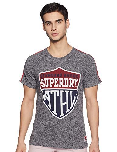 Superdry Inter State Flint - Camiseta para hombre, color gris gris S